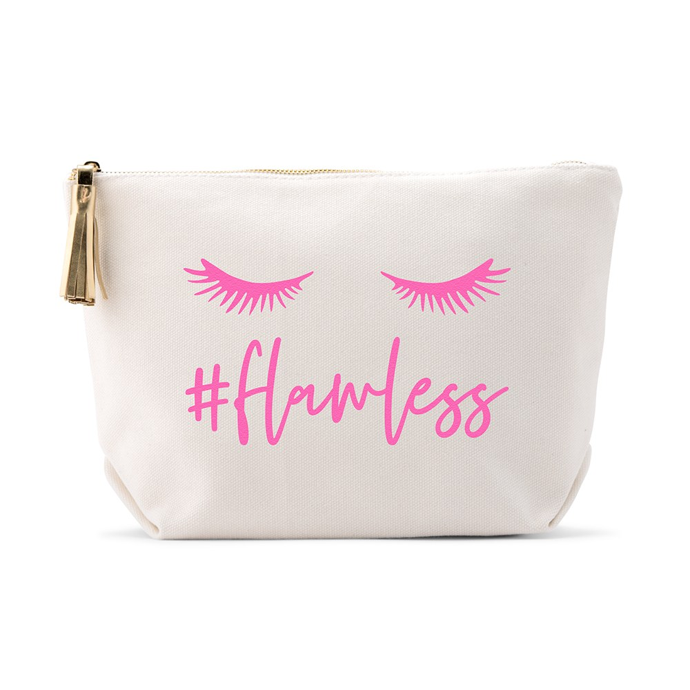Large Personalized Canvas Makeup And Toiletry Bag For Women - #Flawless