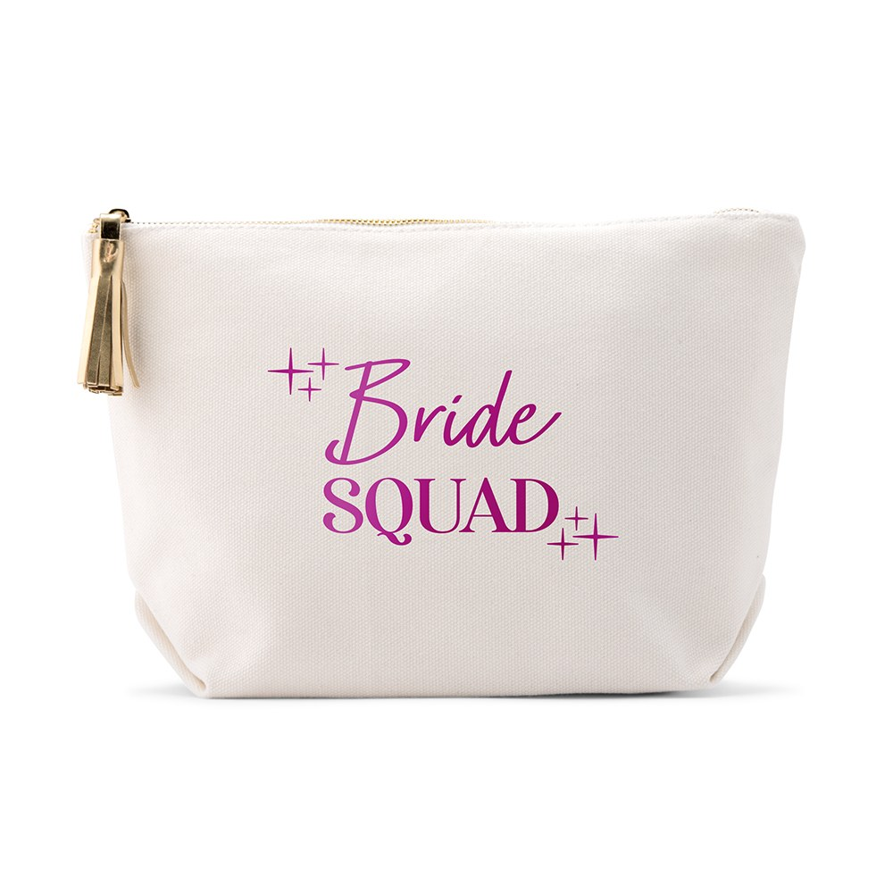 Large Personalized Canvas Makeup Bag - Princess Bride Squad