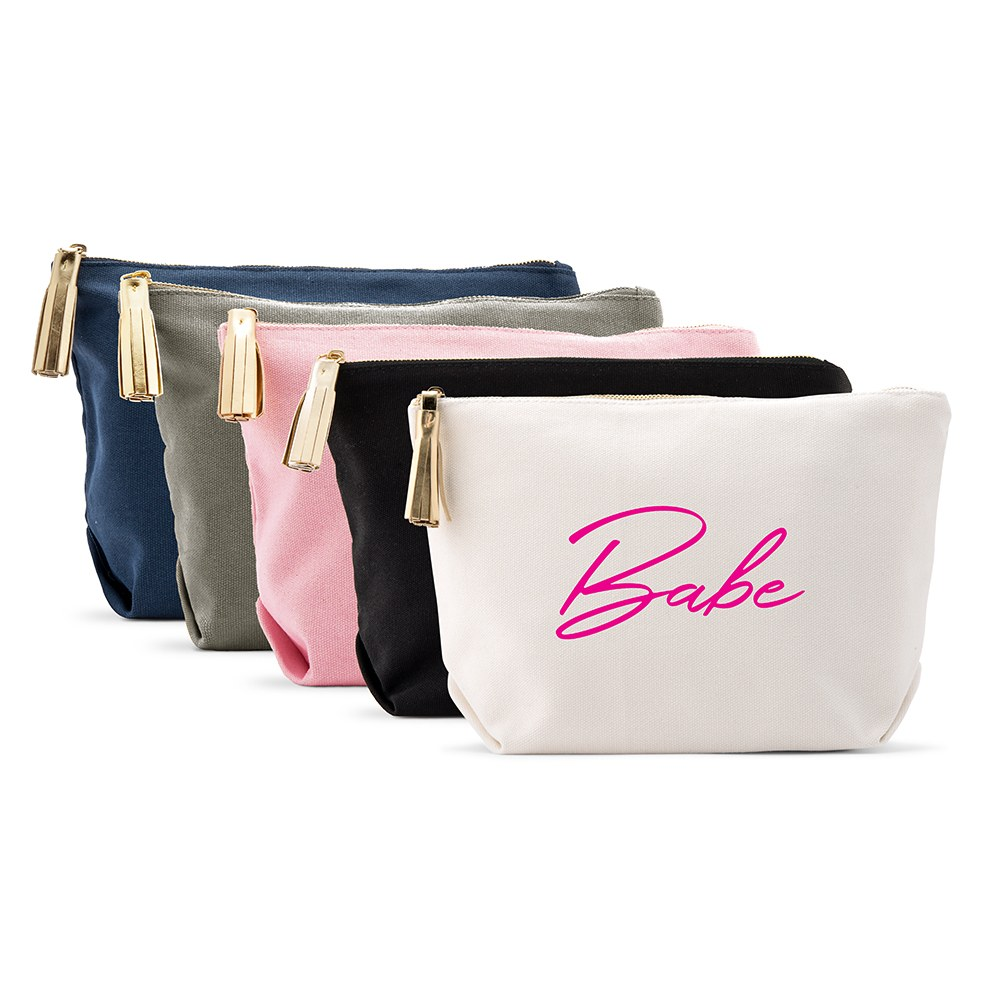 Large Personalized Canvas Makeup Bag - Vegas Babe