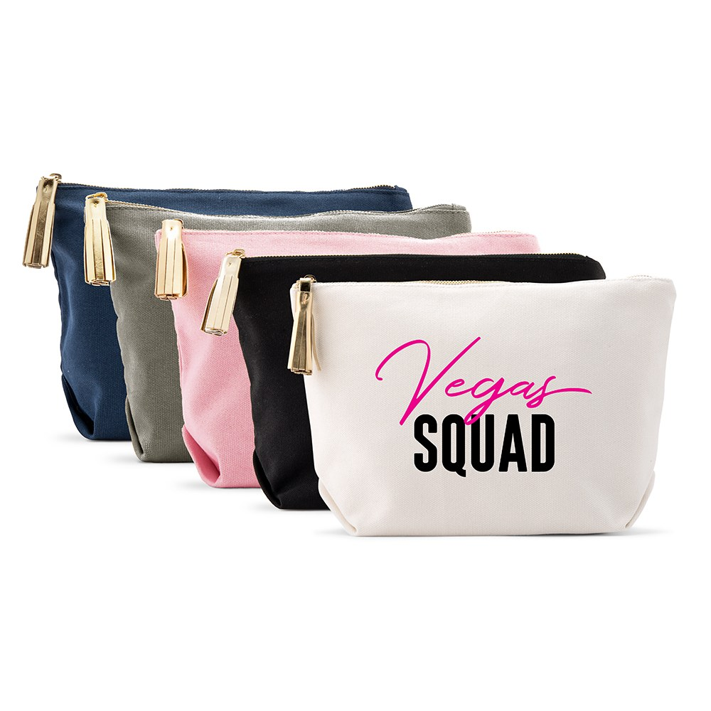 Large Personalized Canvas Makeup Bag - Vegas Squad