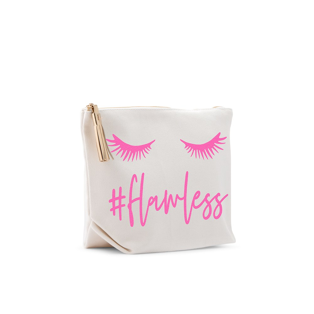 Small Personalized Canvas Makeup And Toiletry Bag For Women - #Flawless