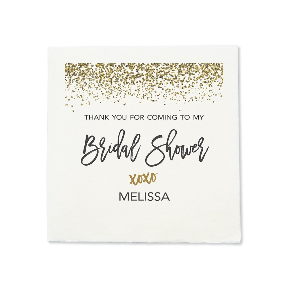 Personalized Color Printed Wedding Napkins - XOXO Sparkle