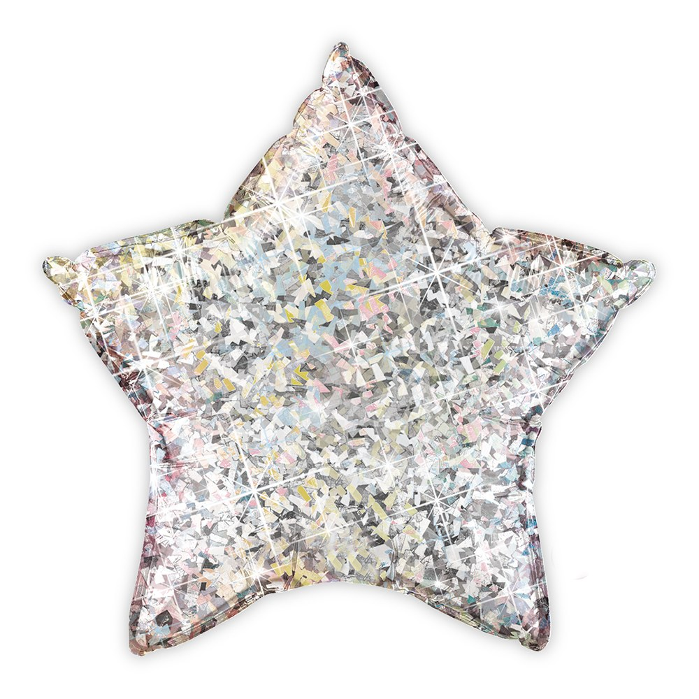 Mylar Foil Helium Party Balloon Decoration - Metallic Silver Star