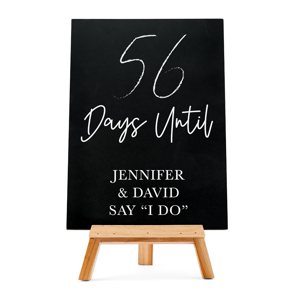 Custom Wedding Chalkboard Sign - Countdown