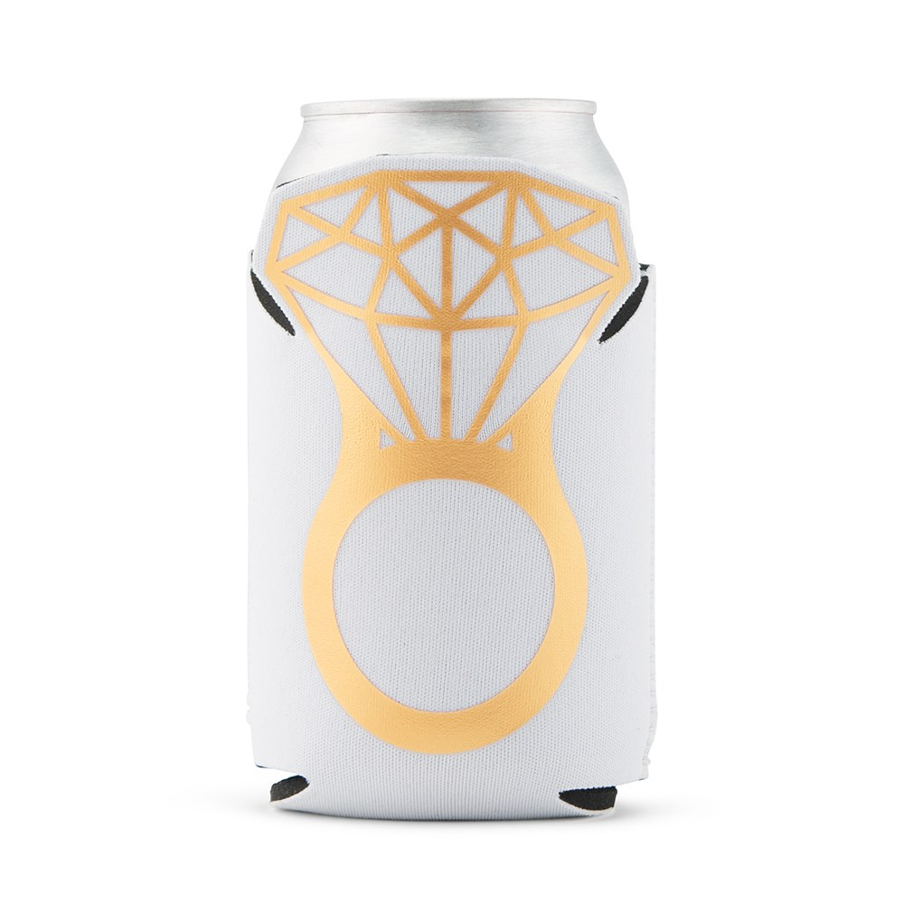 Neoprene Foam Engagement Beer Can Party Koozie - She Said Yes!