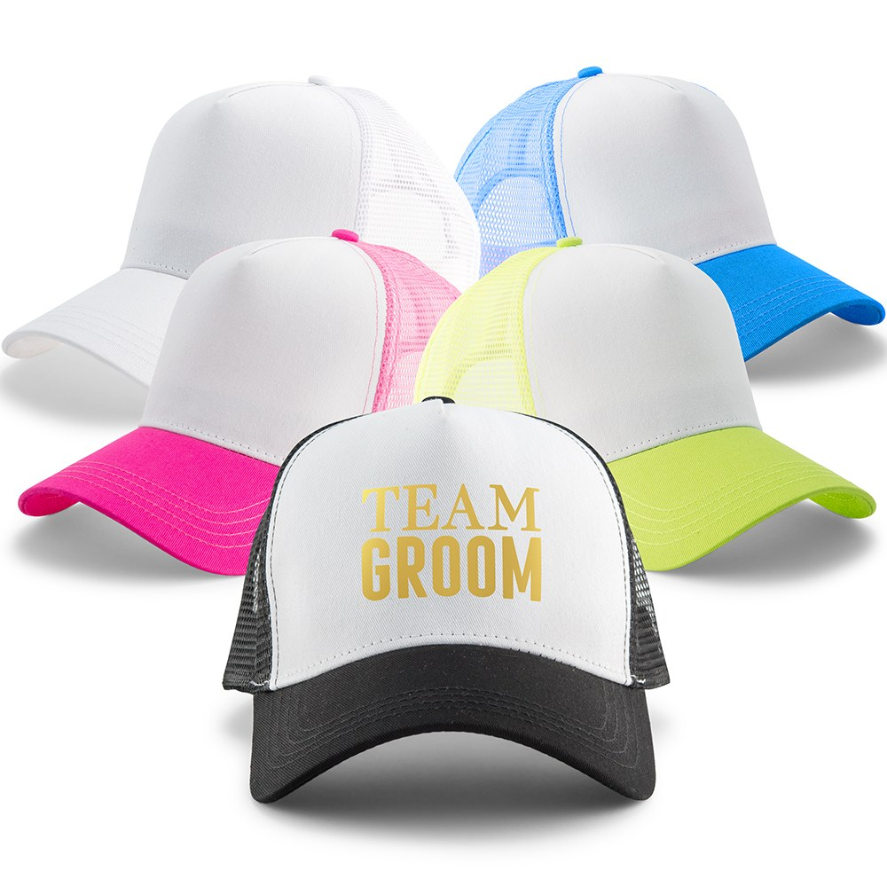 Wedding Party Snapback Trucker Hats - Team Groom
