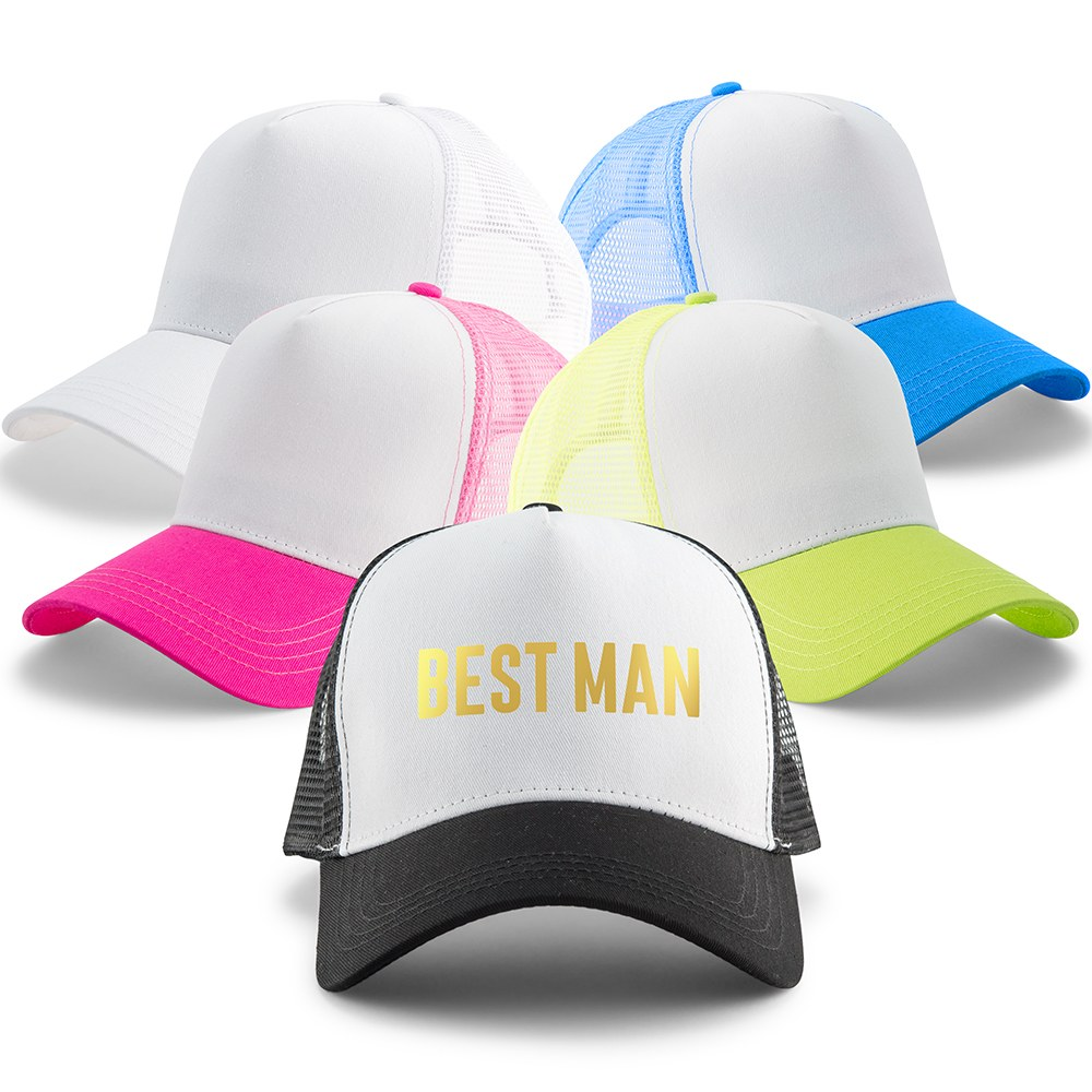 Wedding Party Snapback Trucker Hats - Best Man
