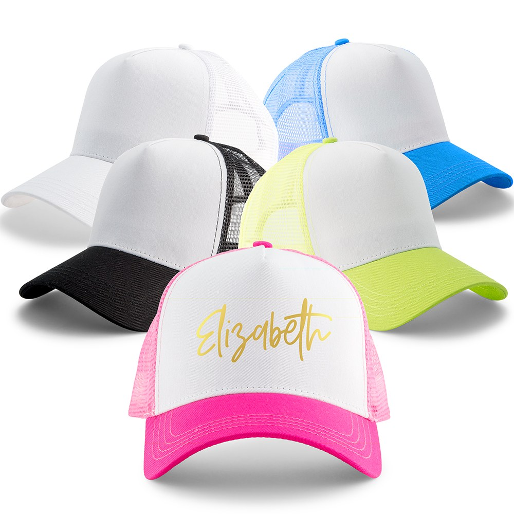 Wedding Party Snapback Trucker Hats - Script Font