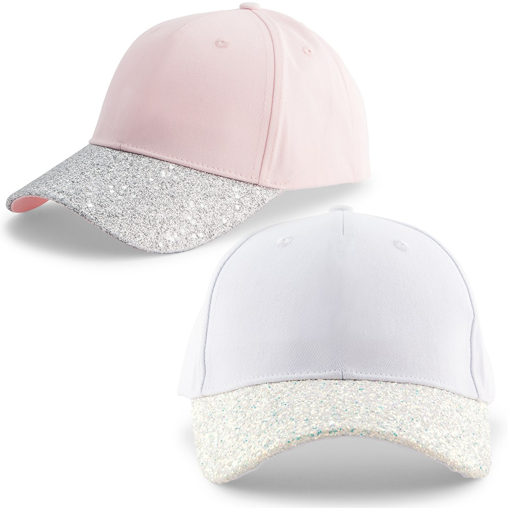Women's Wedding Party Glitter Hats - Blank