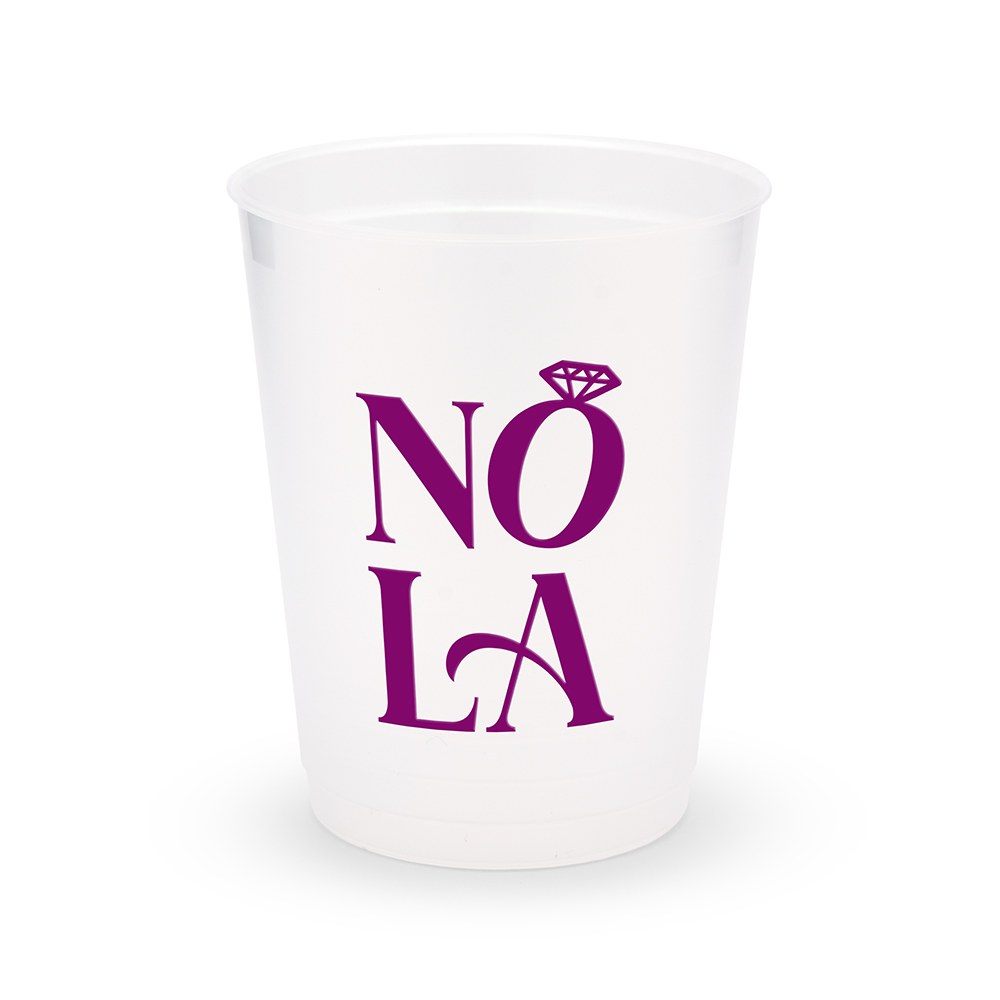 Personalized Frosted Plastic Party Cups - NOLA - Set of 8