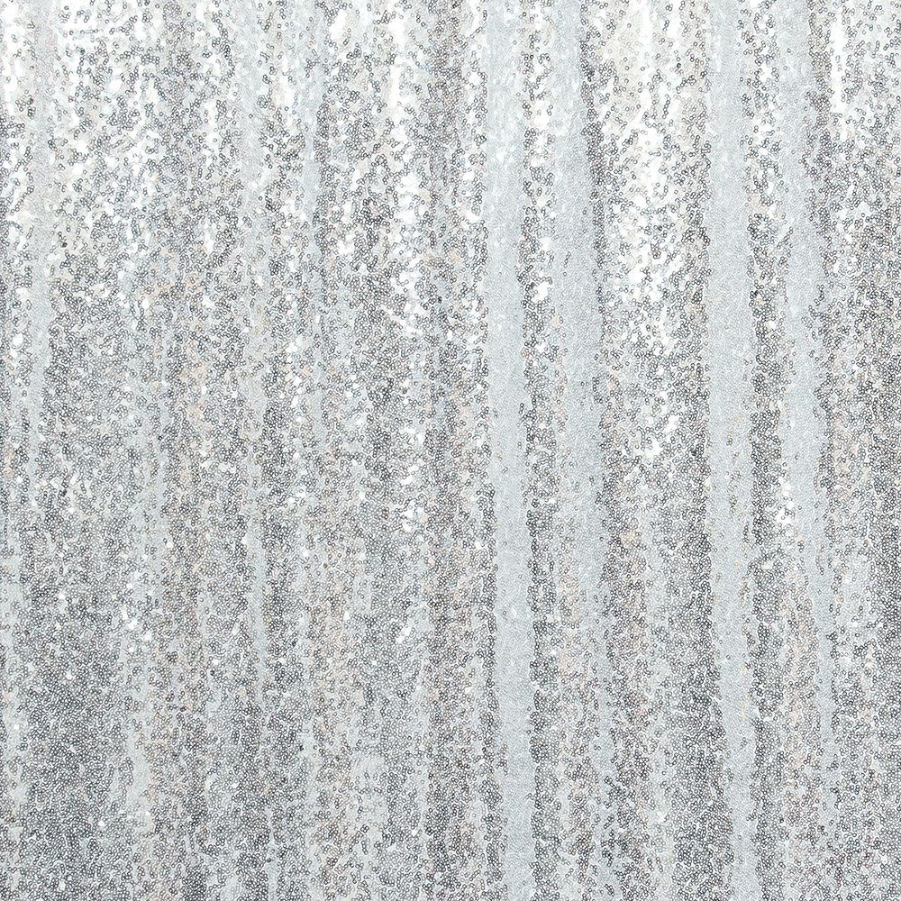 Custom Wedding Photo Backdrop Decoration - Silver Sequin