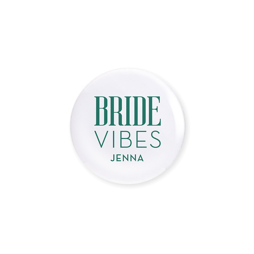 Personalized Bridal Party Wedding Pins - Beach Bride Vibes