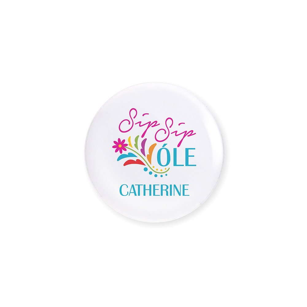 Personalized Bridal Party Wedding Pins - Sip Sip Ole