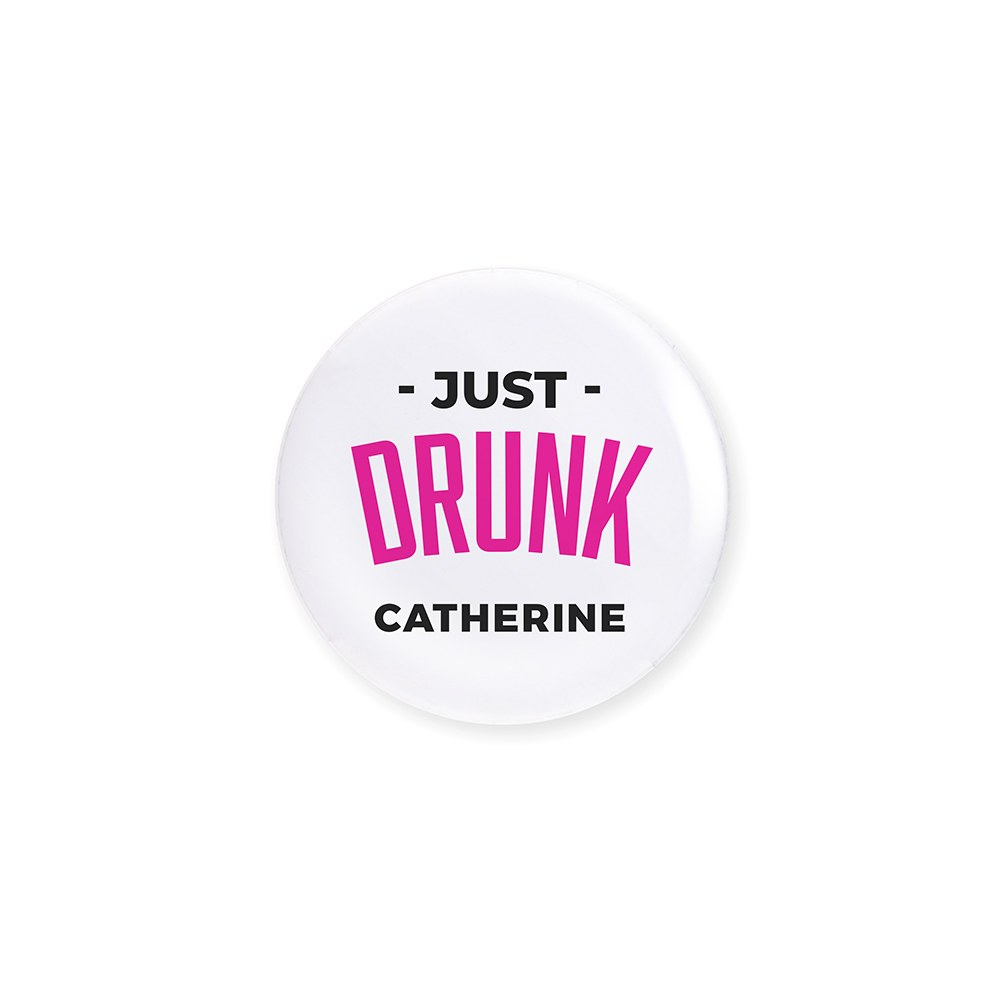 Personalized Bridal Party Wedding Pins - Just Glam Drunk