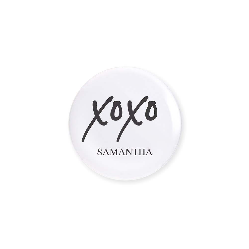 Personalized Bridal Party Wedding Pins - XOXO