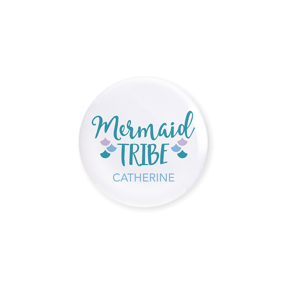 Personalized Bridal Party Wedding Pins - Mermaid Tribe