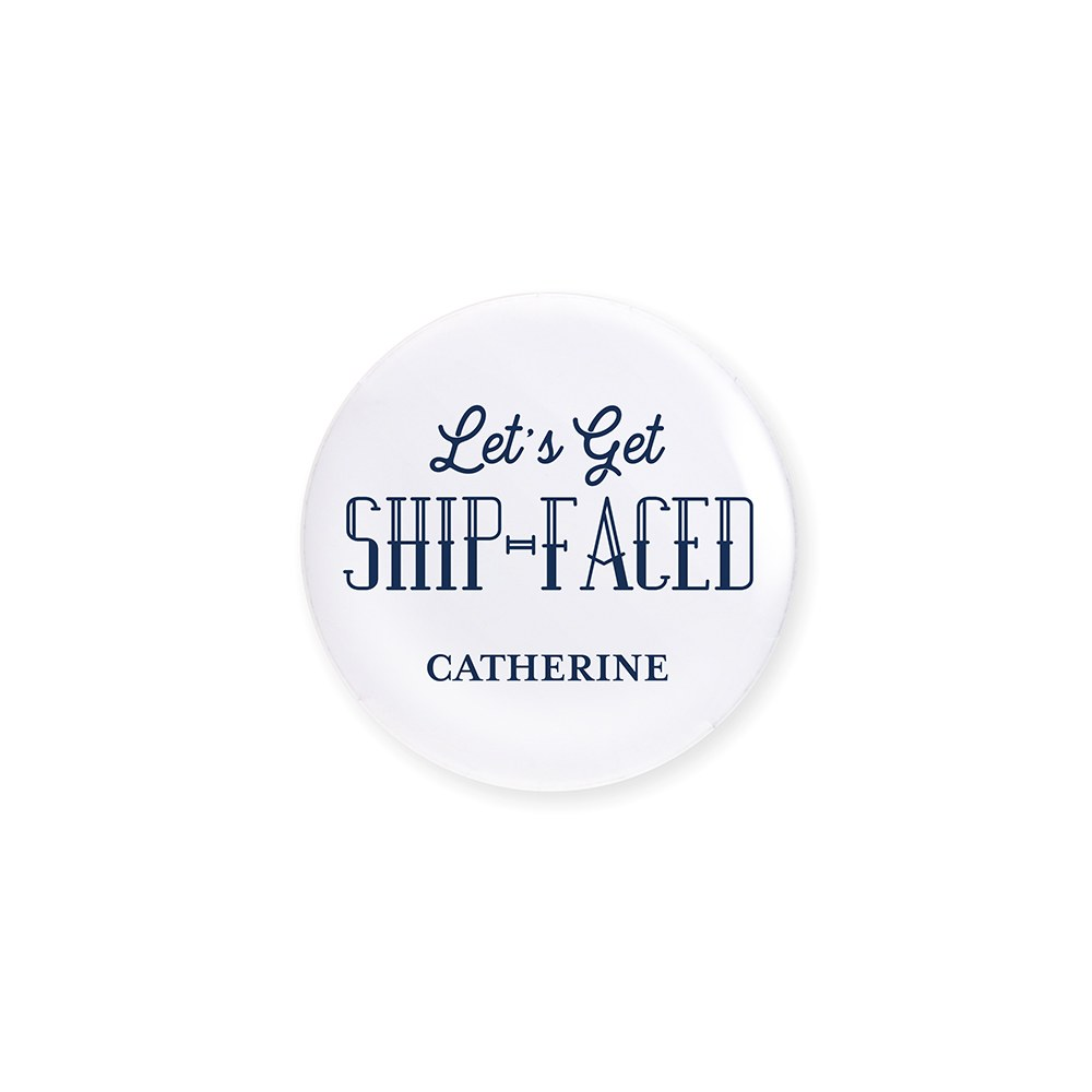 Personalized Bridal Party Wedding Pins - Ship-Faced