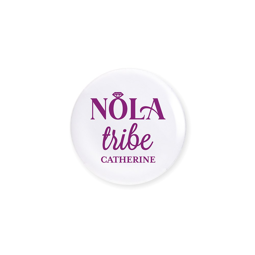 Personalized Bridal Party Wedding Pins - NOLA Tribe