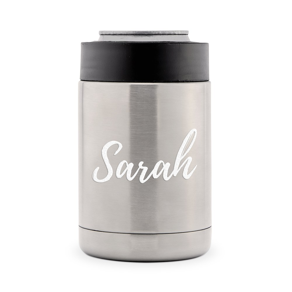 Custom Stainless Steel Insulated Beer Can Koozie - Calligraphy