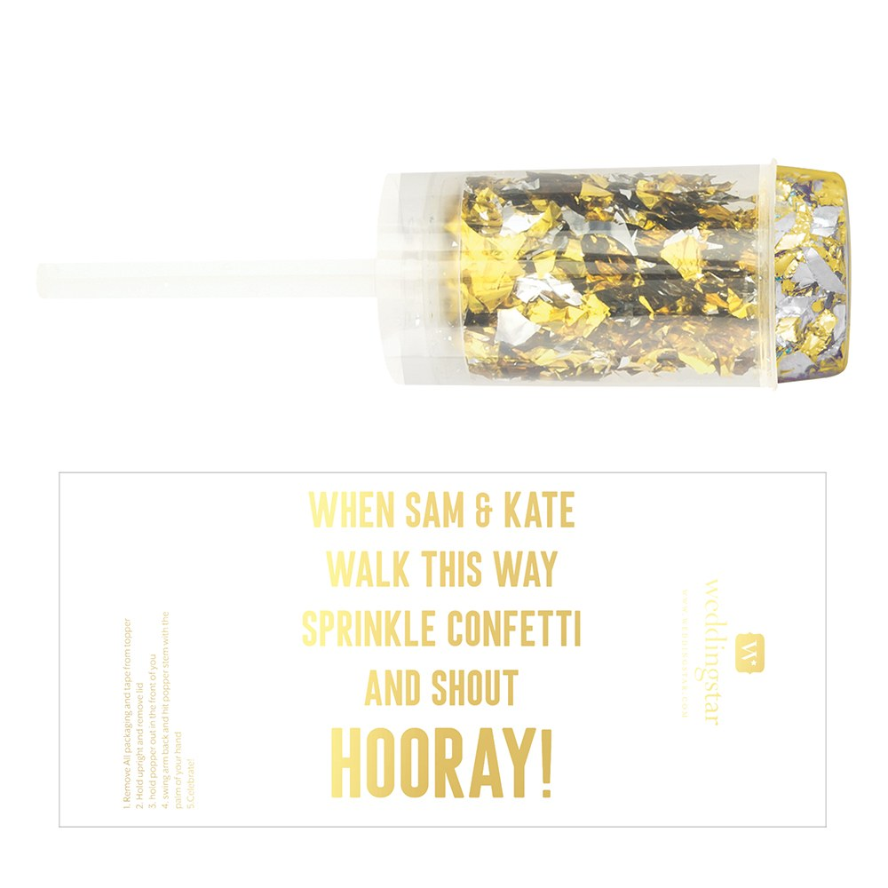 Personalized Push-Up Confetti Popper - Custom Text