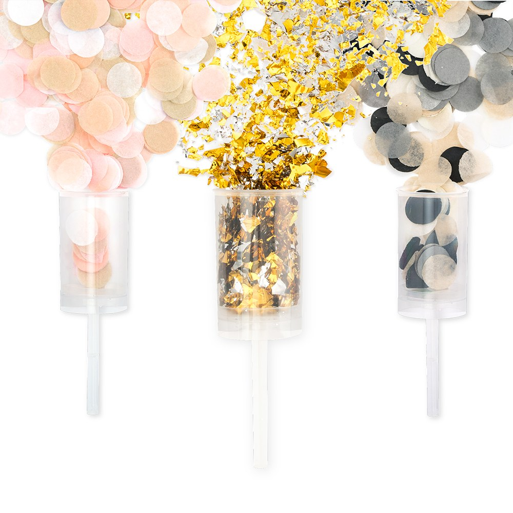 Push-Up Confetti Popper - Blank