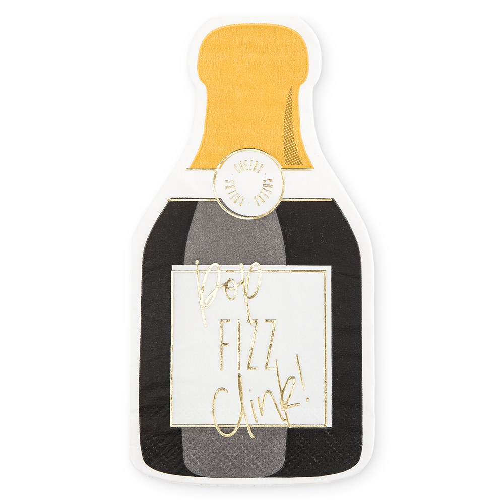 Cute Special Occasion Paper Party Napkin - Champagne Bottle