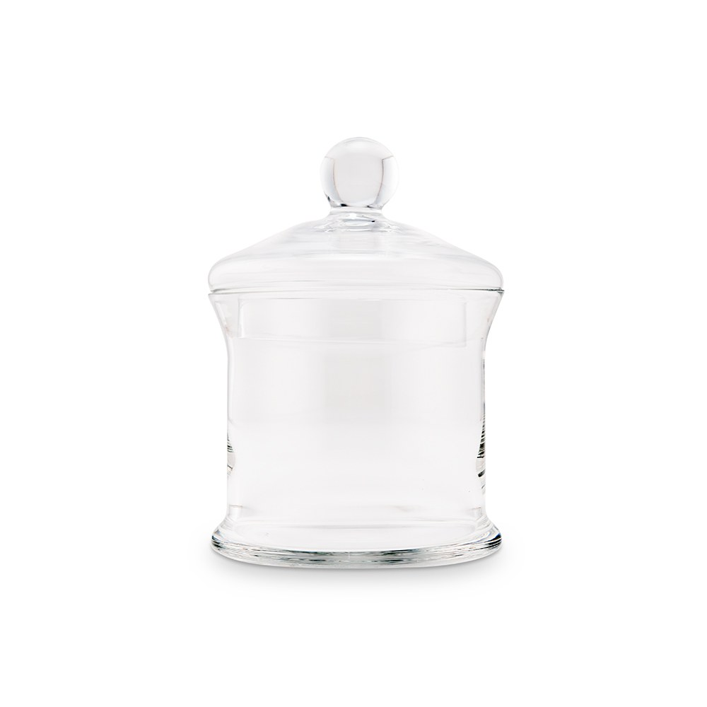 Small Glass Apothecary Candy Jar - Cylinder with Lid