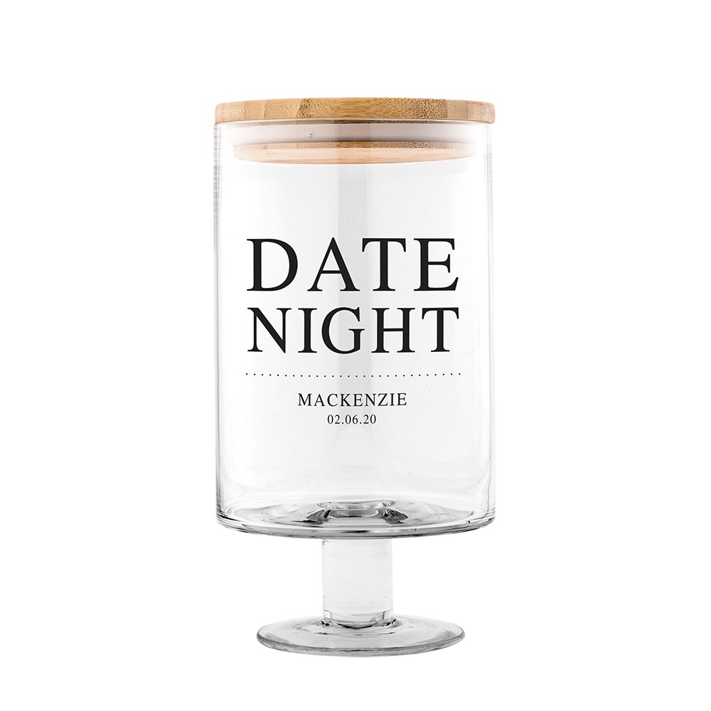 Personalized Glass Wedding Wishes Guest Book Jar - Date Night
