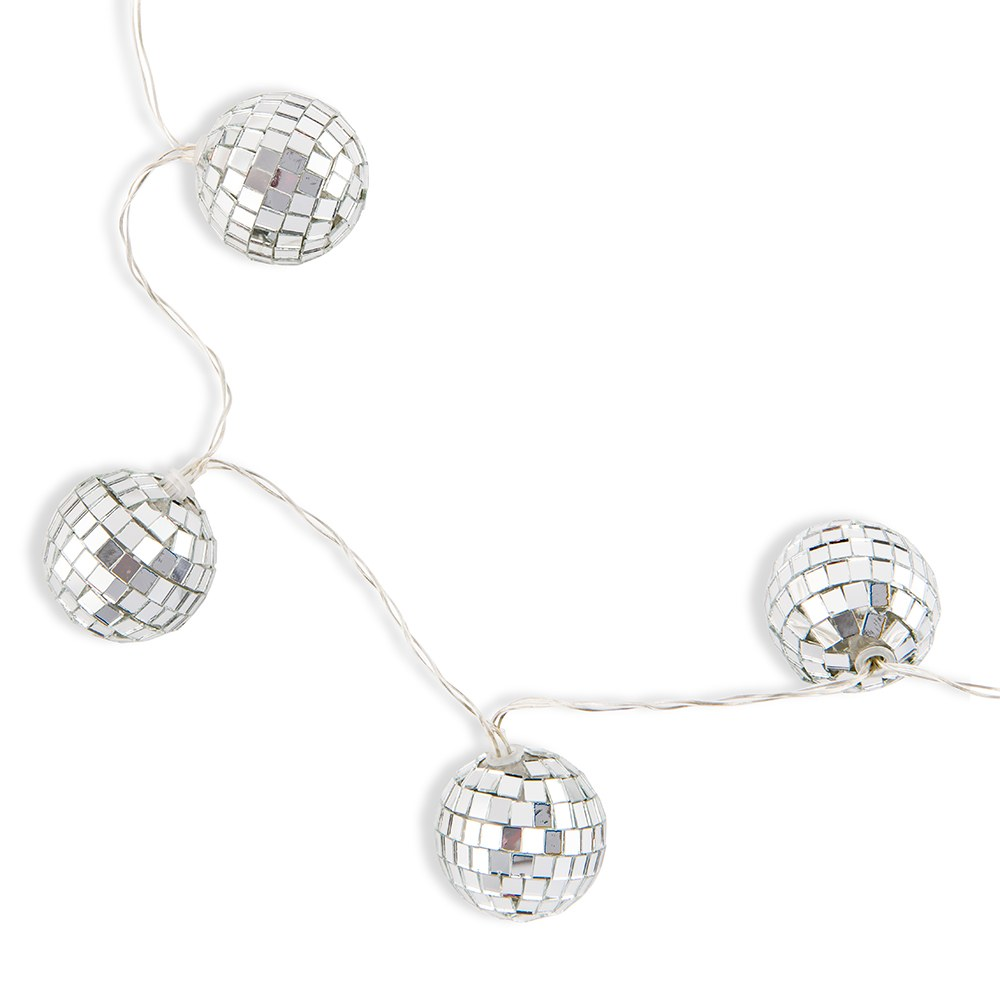 Decorative Battery Operated LED String Lights - Disco Ball