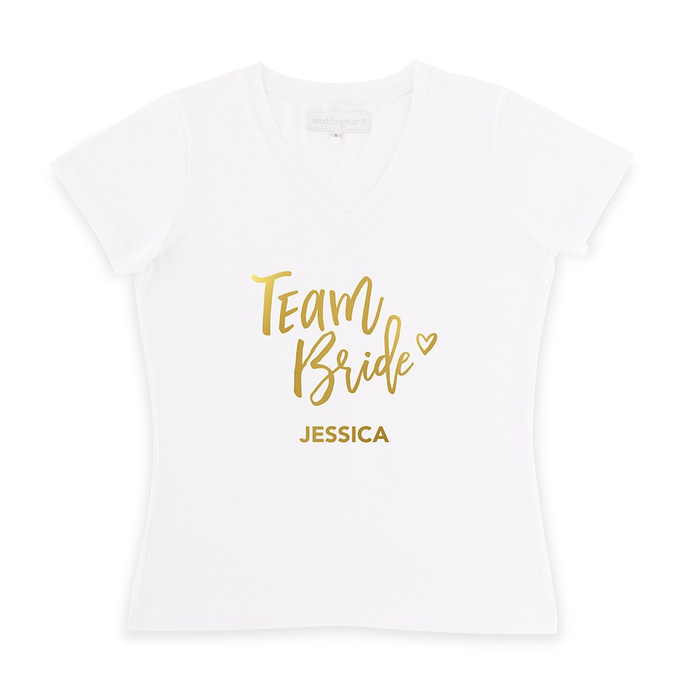 Personalized Bridal Party Wedding T-Shirt - Team Bride