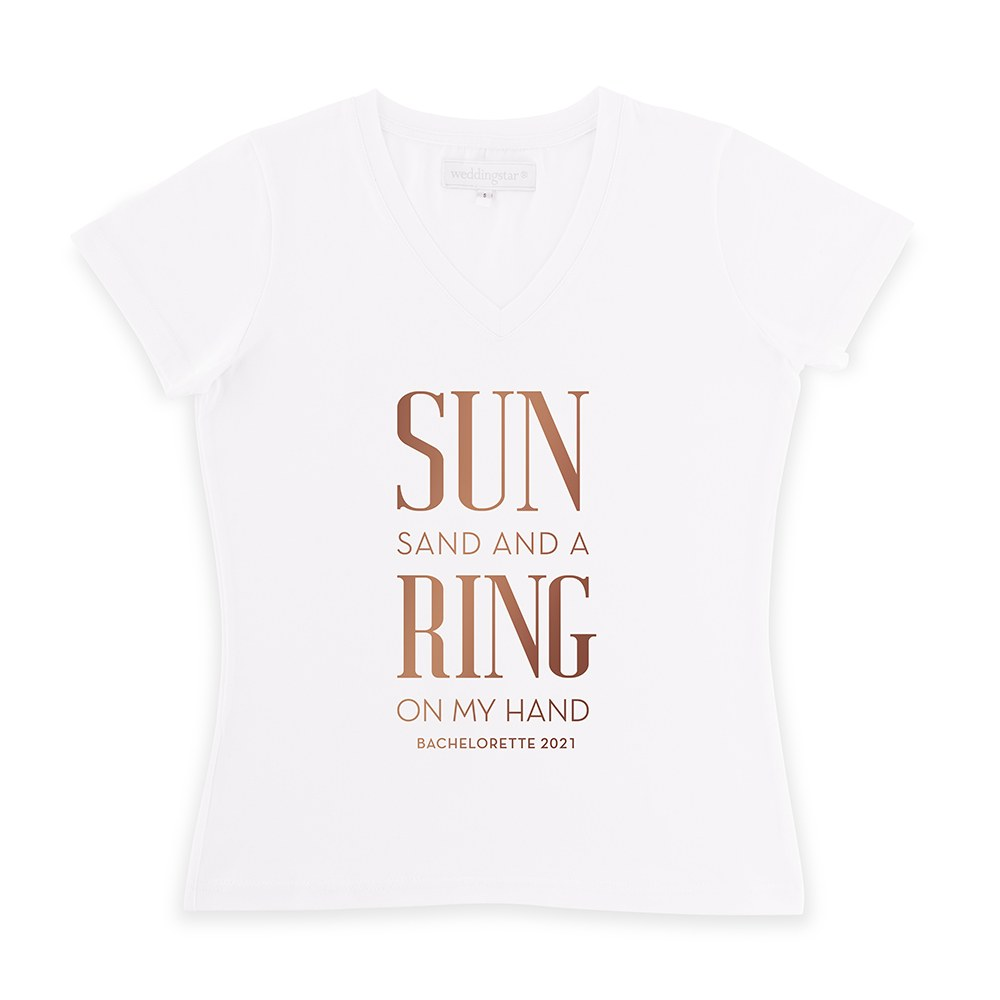 Personalized Bridal Party Wedding T-Shirt - Ring On My Hand