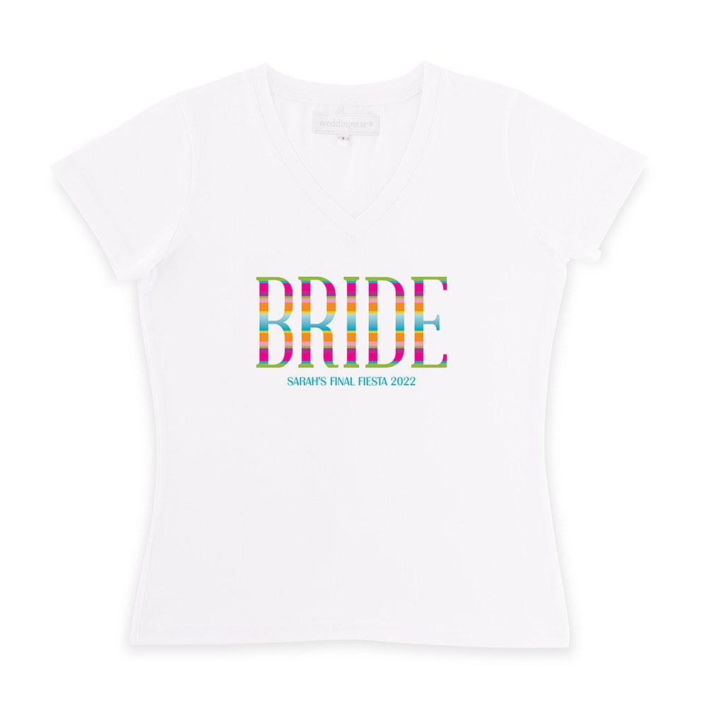 Personalized Bridal Party Wedding T-Shirt - Fiesta Bride