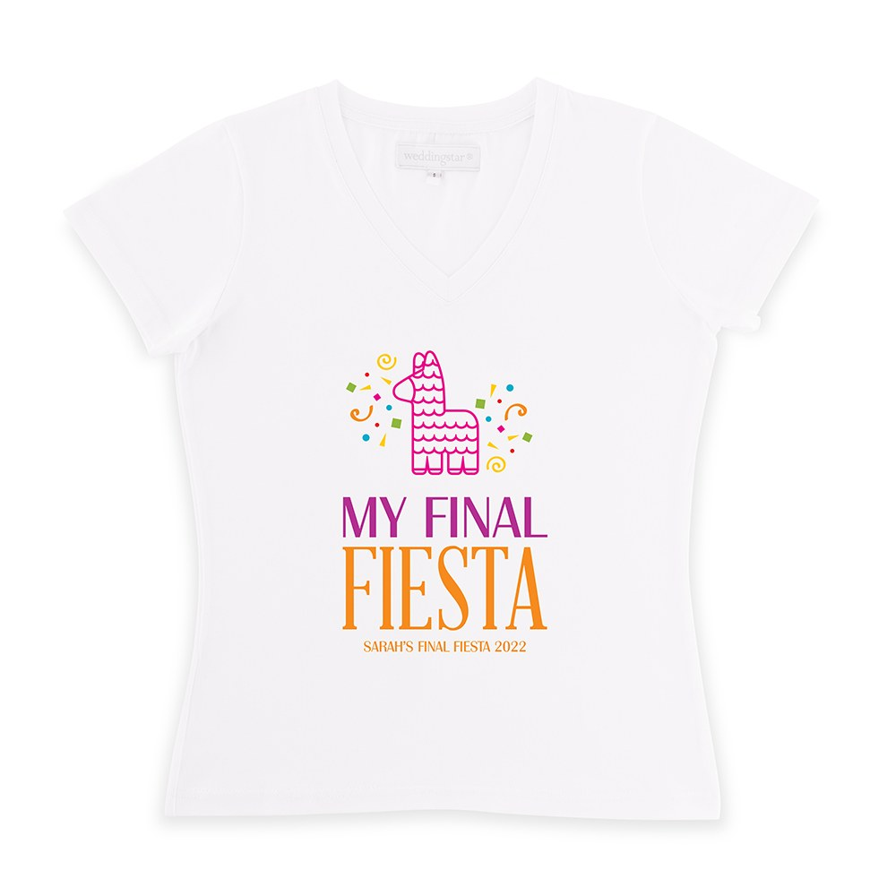 Personalized Bridal Party Wedding T-Shirt - Final Fiesta