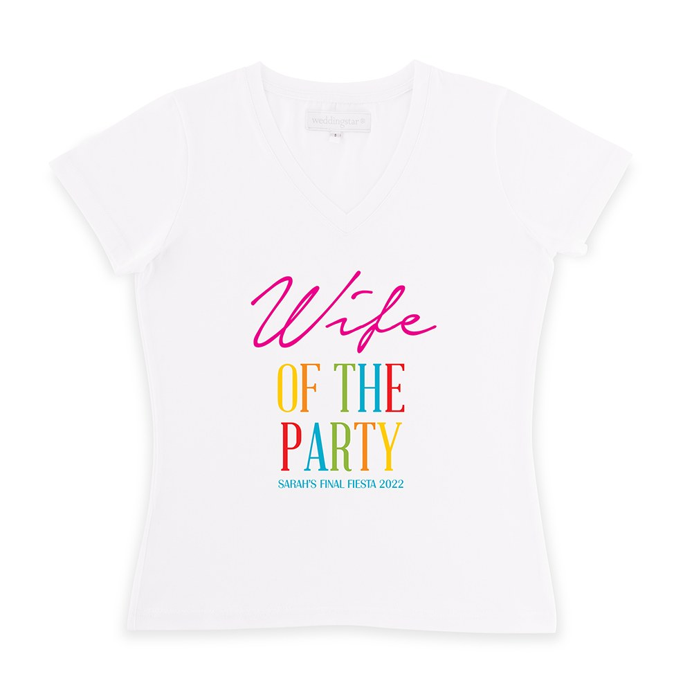 Personalized Bridal Party Wedding T-Shirt - Wife of the Party