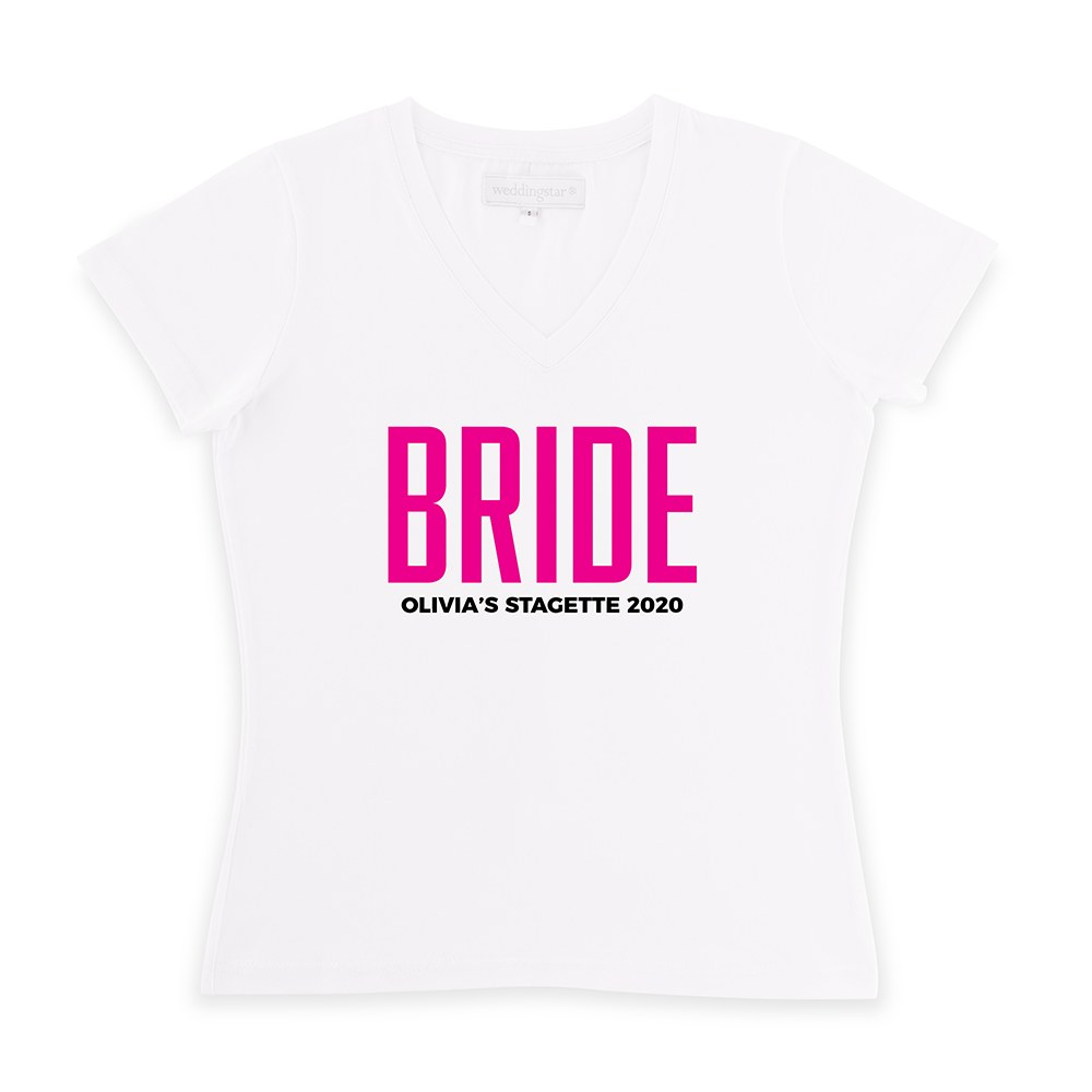 Personalized Bridal Party Wedding T-Shirt - Glam Bride