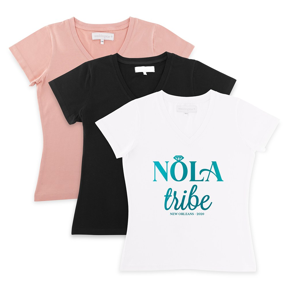 Personalized Bridal Party Wedding T-Shirt - Nola Tribe