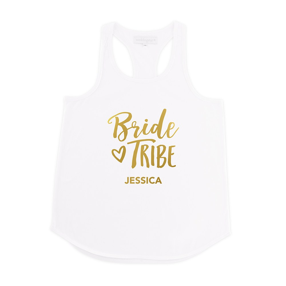 Personalized Bridal Party Wedding Tank Top - Bride Tribe