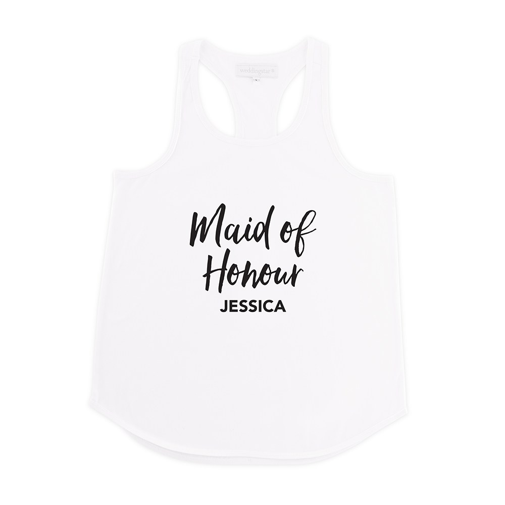 Personalized Bridal Party Wedding Tank Top - Maid of Honour
