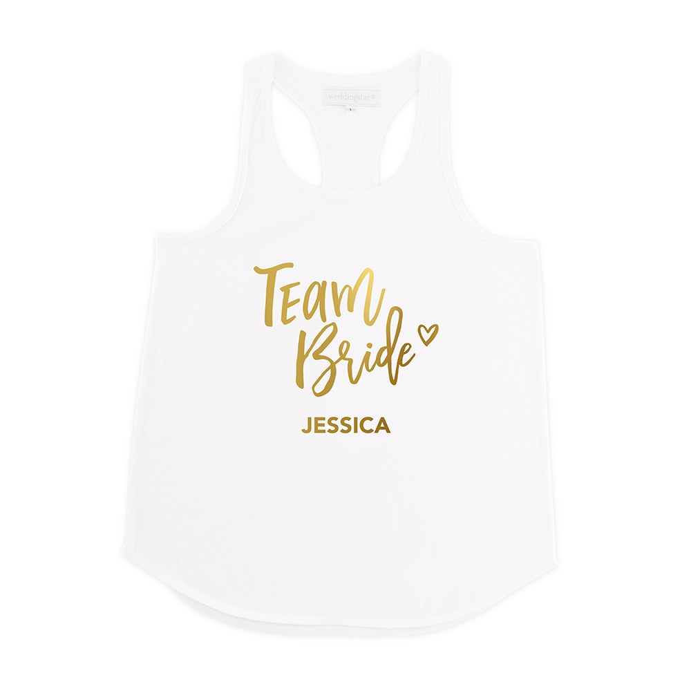 Personalized Bridal Party Wedding Tank Top - Team Bride