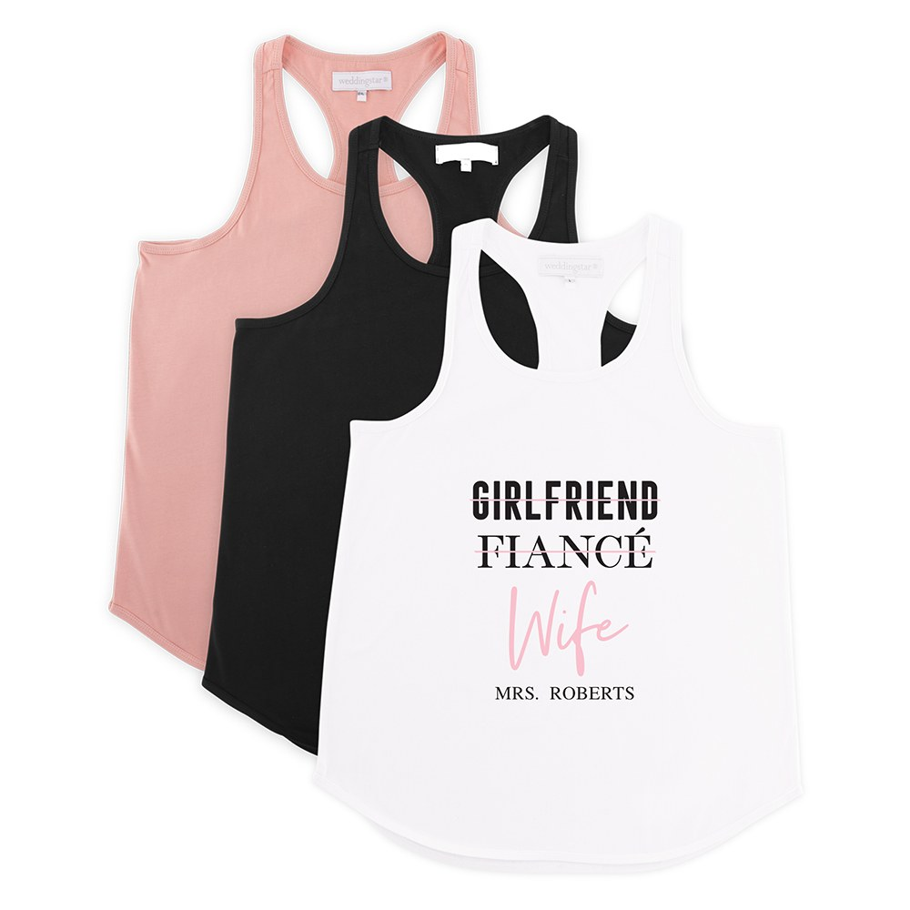 Personalized Bridal Party Wedding Tank Top - Wife Checklist