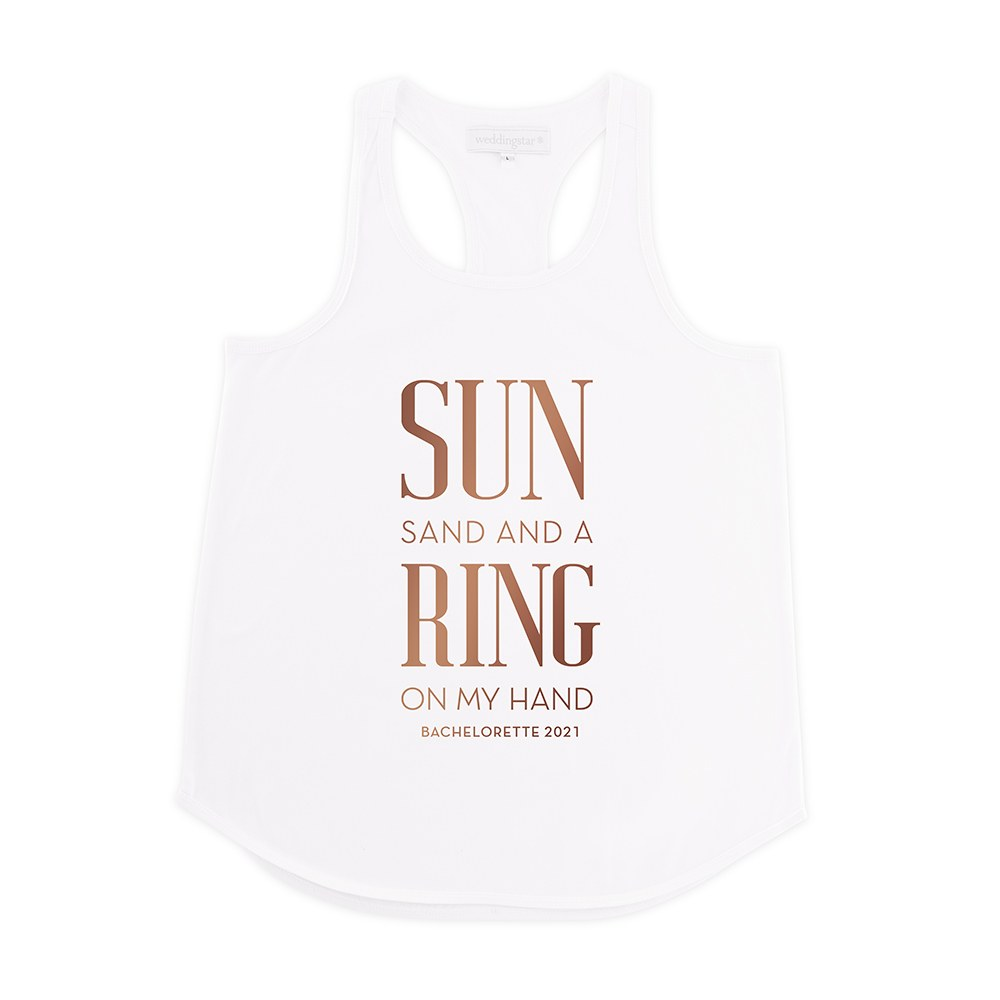 Personalized Bridal Party Wedding Tank Top - Ring On My Hand
