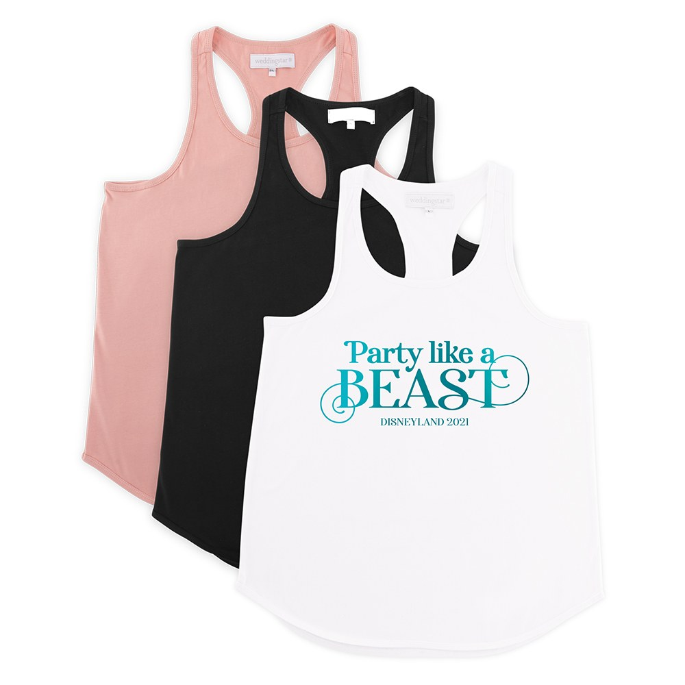 Personalized Bridal Party Wedding Tank Top - Party Like A Beast