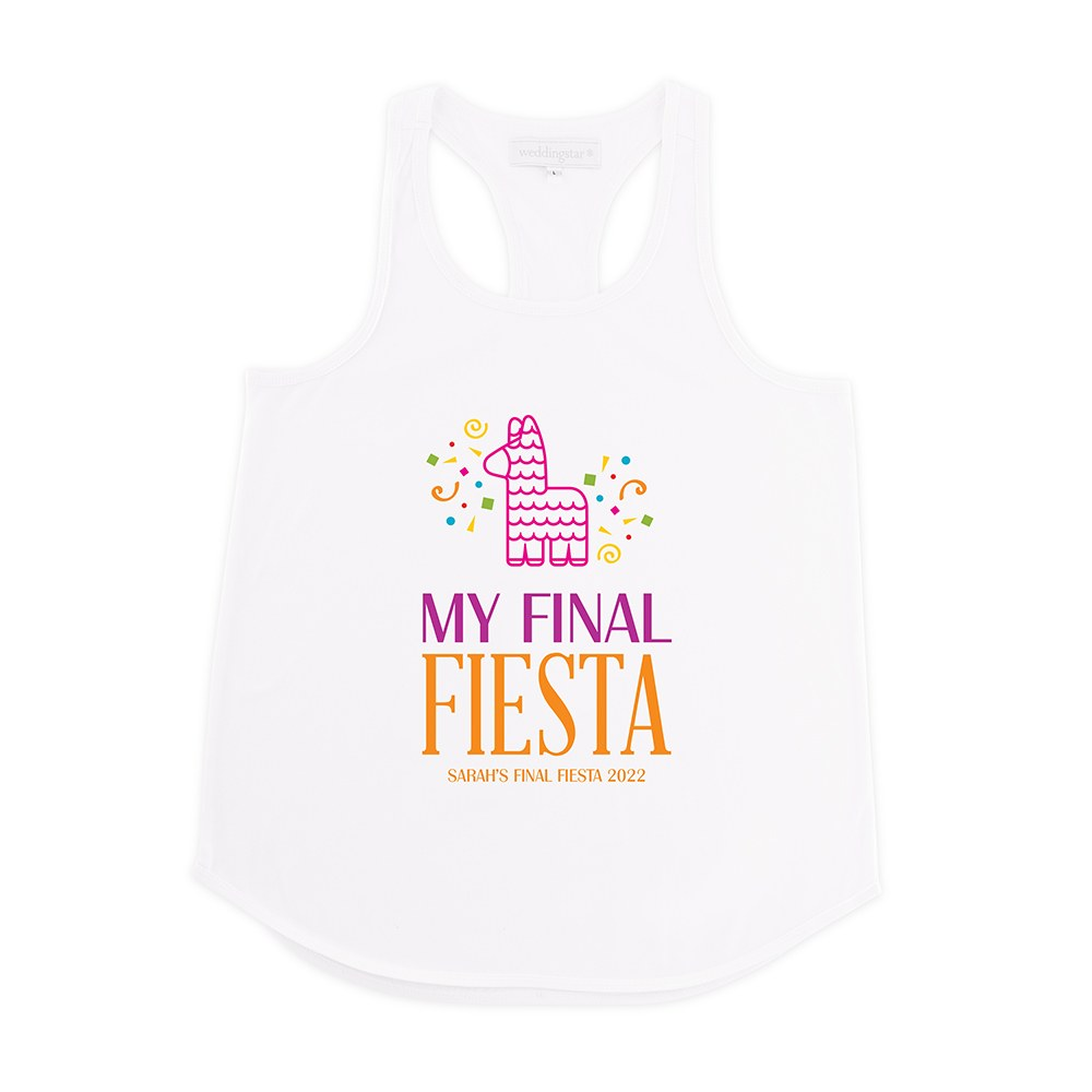 Personalized Bridal Party Wedding Tank Top - Final Fiesta