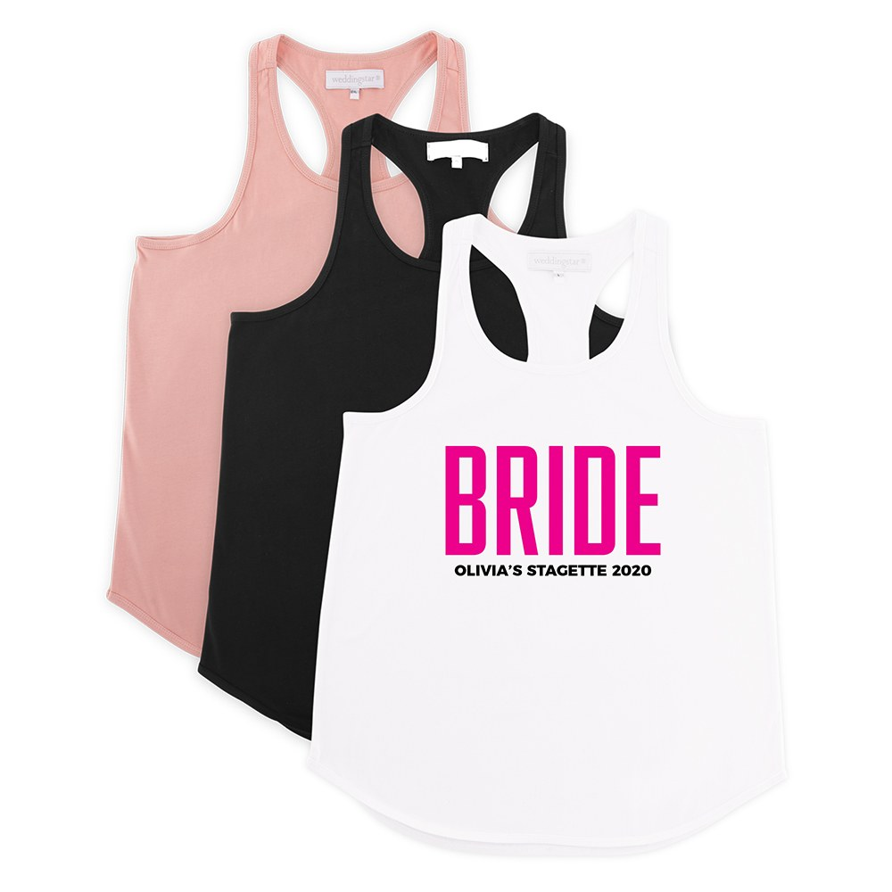 Personalized Bridal Party Wedding Tank Top - Glam Bride