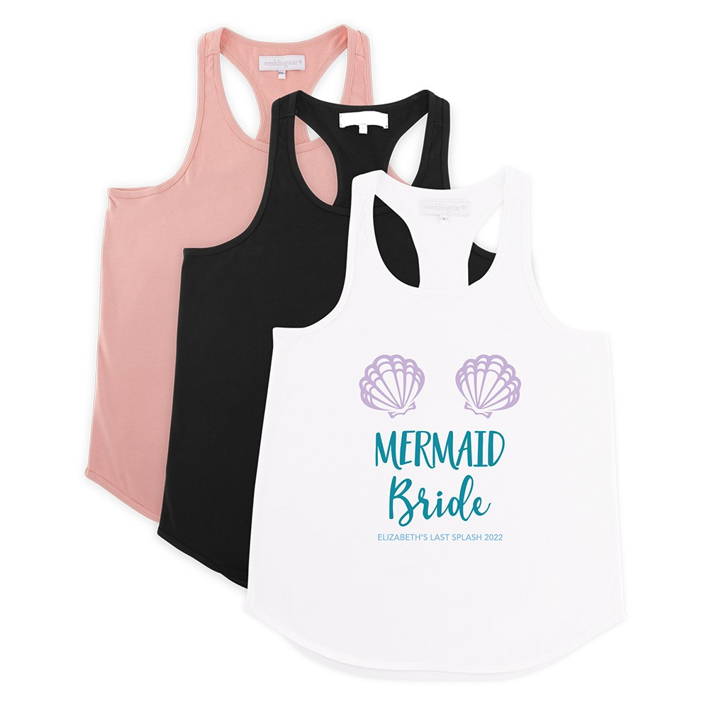 Personalized Bridal Party Wedding Tank Top - Mermaid Bride