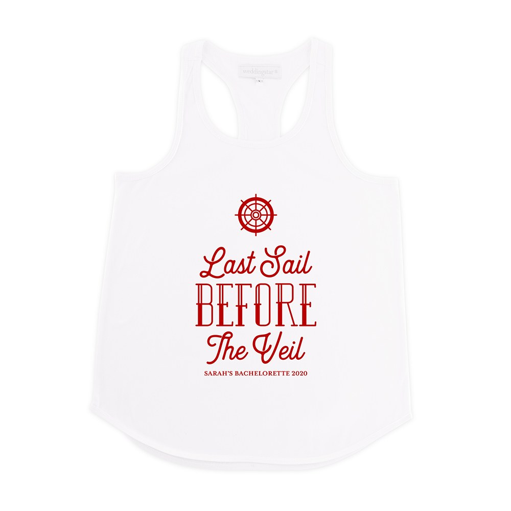 Personalized Bridal Party Wedding Tank Top - Last Sail Before The Veil