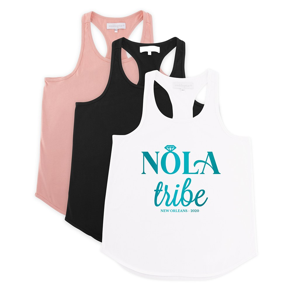 Personalized Bridal Party Wedding Tank Top - Nola Tribe