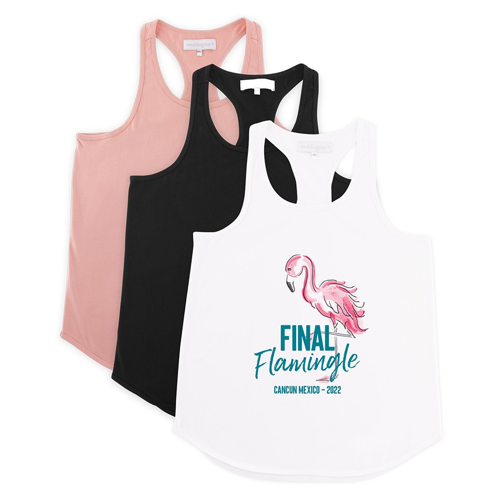 Personalized Bridal Party Wedding Tank Top - Final Flamingle