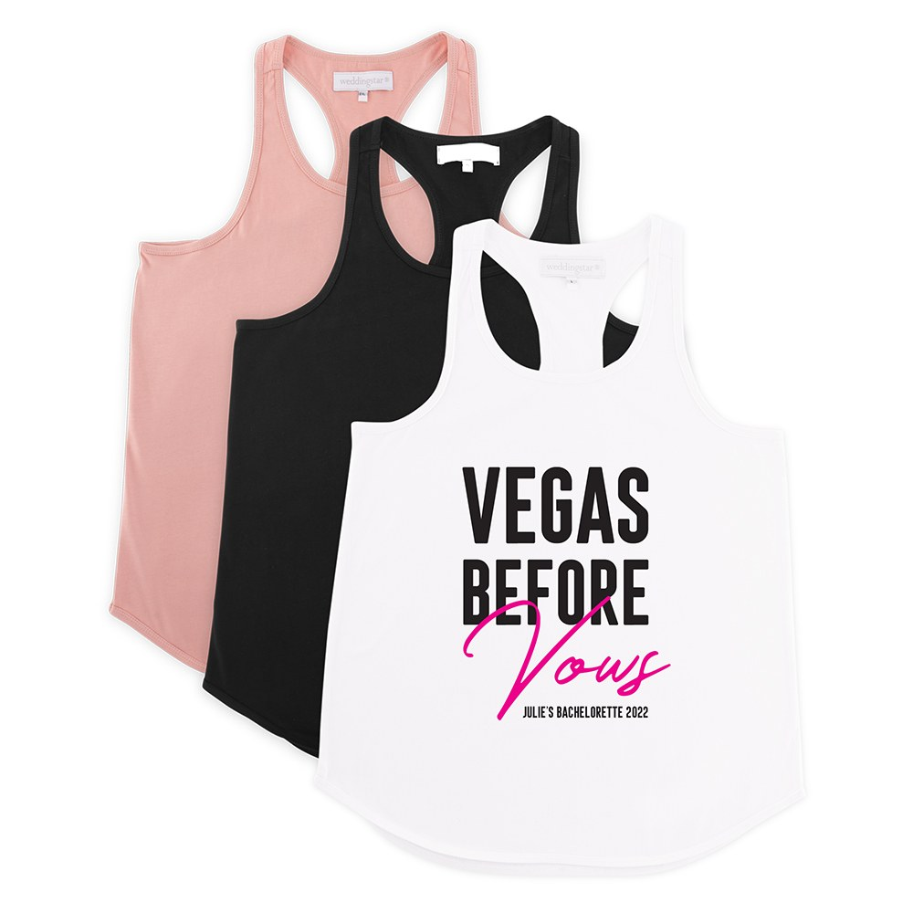 Personalized Bridal Party Wedding Tank Top - Vegas Before Vows