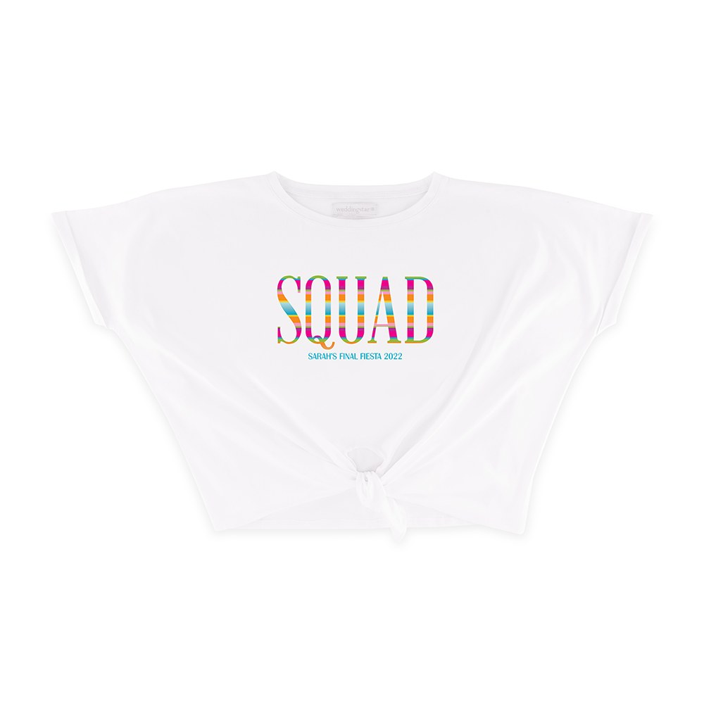 Personalized Bridal Party Tie-Up Wedding Shirt - Fiesta Squad